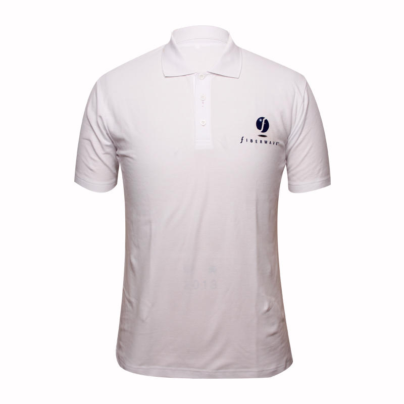white polo shirt short sleeve printing logo