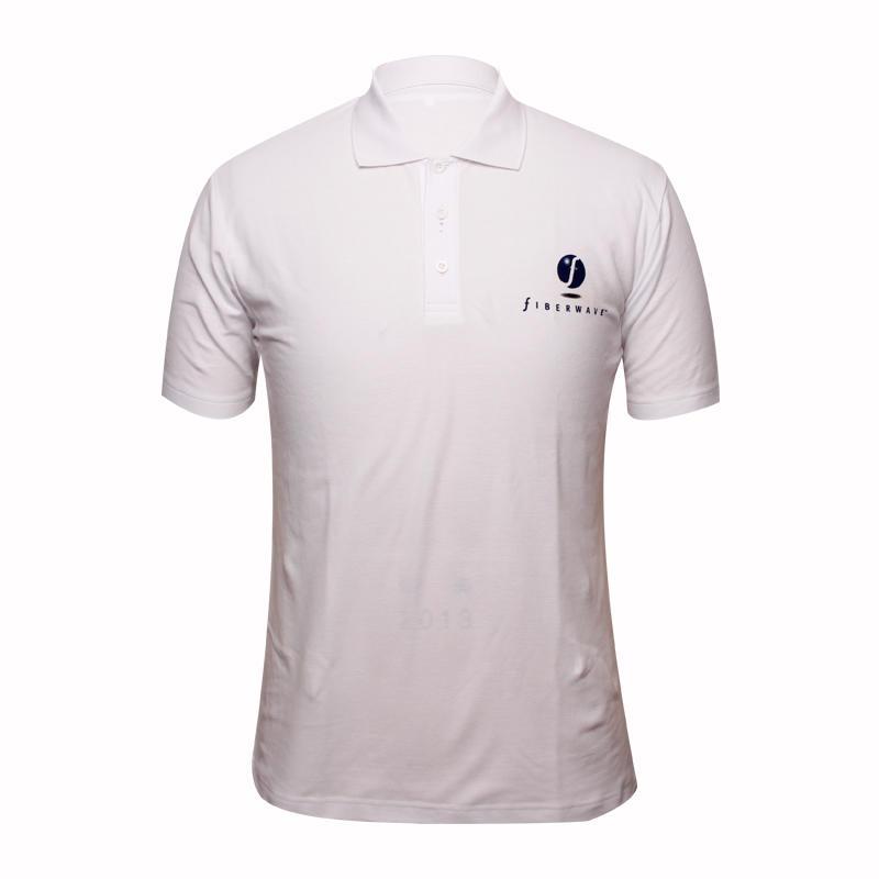 white polo shirt short sleeve printing logo