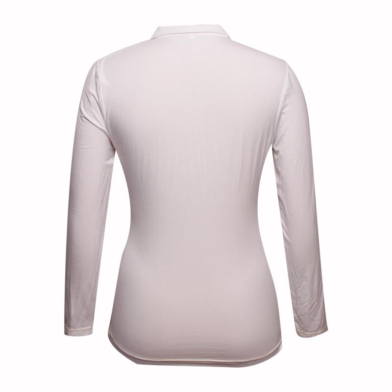 ladies long sleeve polo shirts V neck