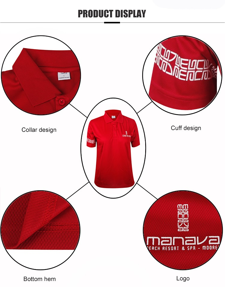 Teesso colored ladies cotton polo shirts with zipper for ladies-4