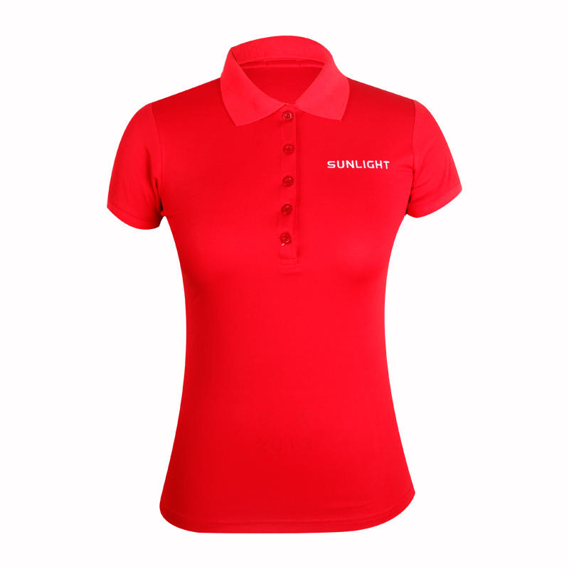 colored ladies cotton polo shirts with full sublimation logo for ladies