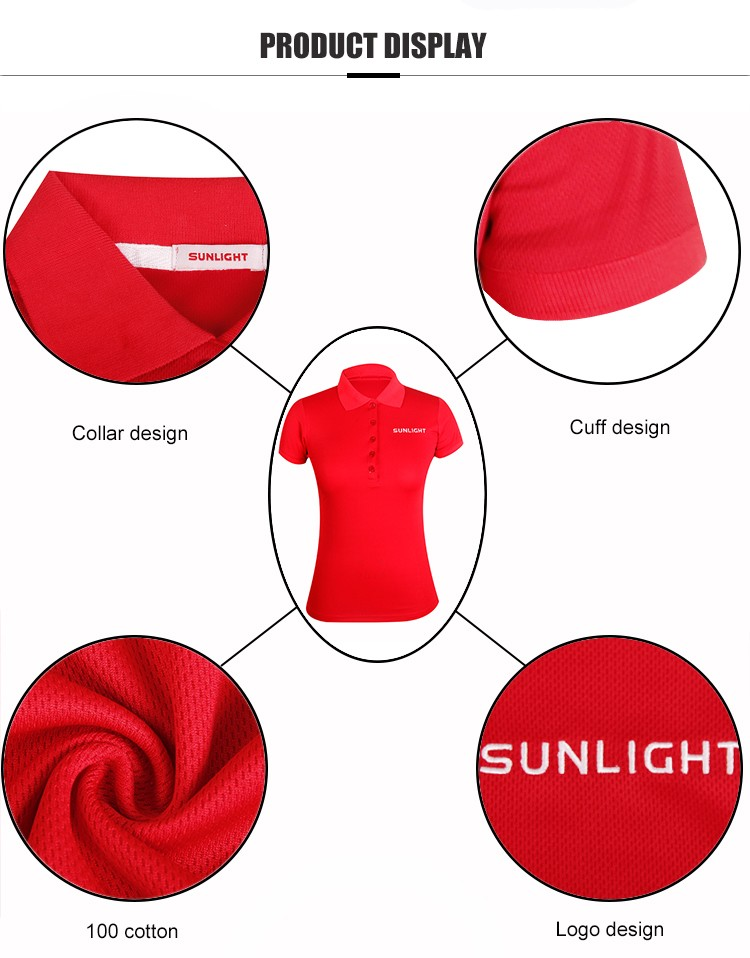 colored ladies cotton polo shirts with full sublimation logo for ladies-4