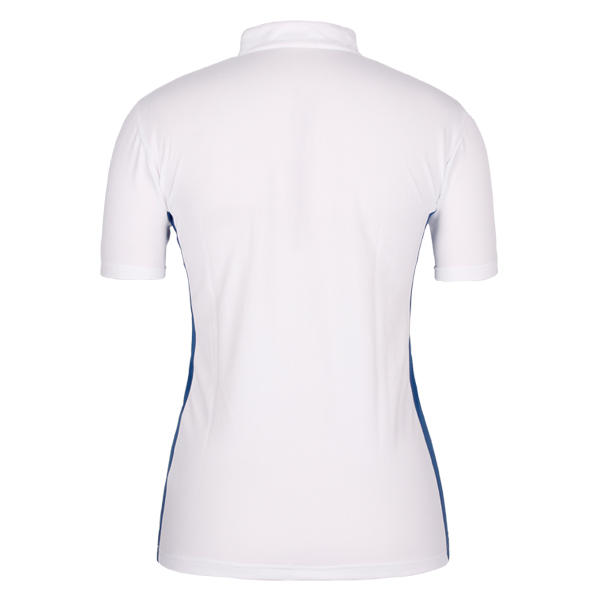ladies polo tops and zipper neck