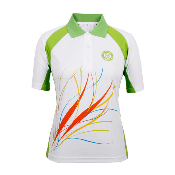 ladies polo t shirts fashion pinting 100% polyester