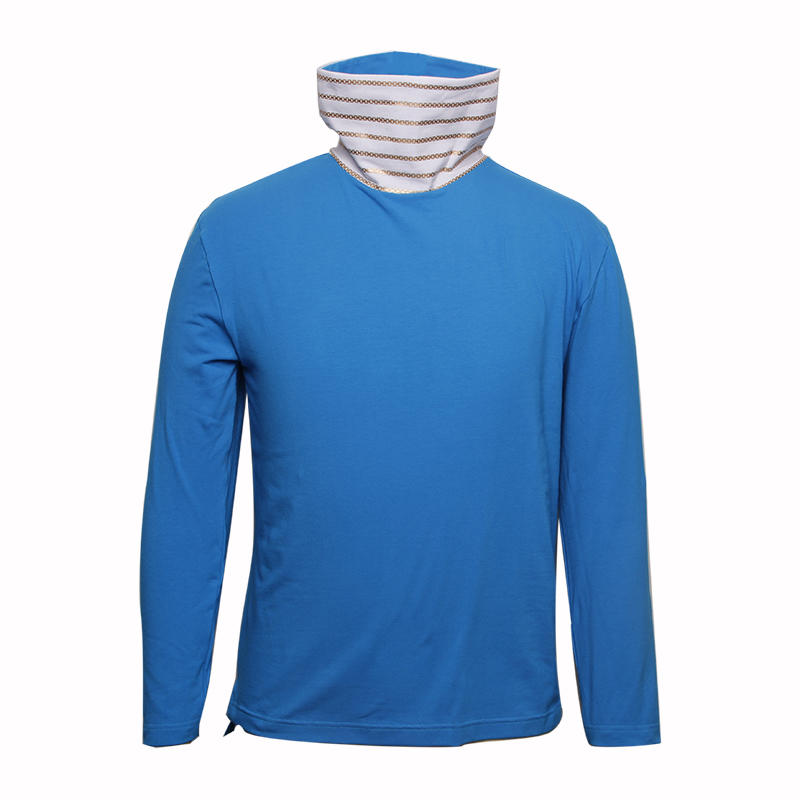 long sleeve shirts with high collar blank