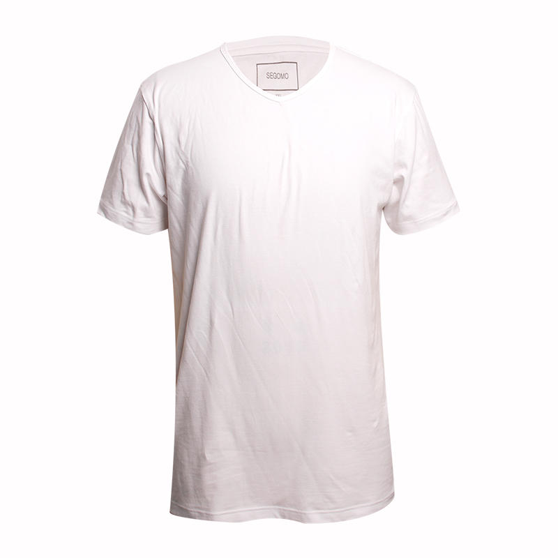 blank tshirt white short sleeves 95%cotton 5%lycra