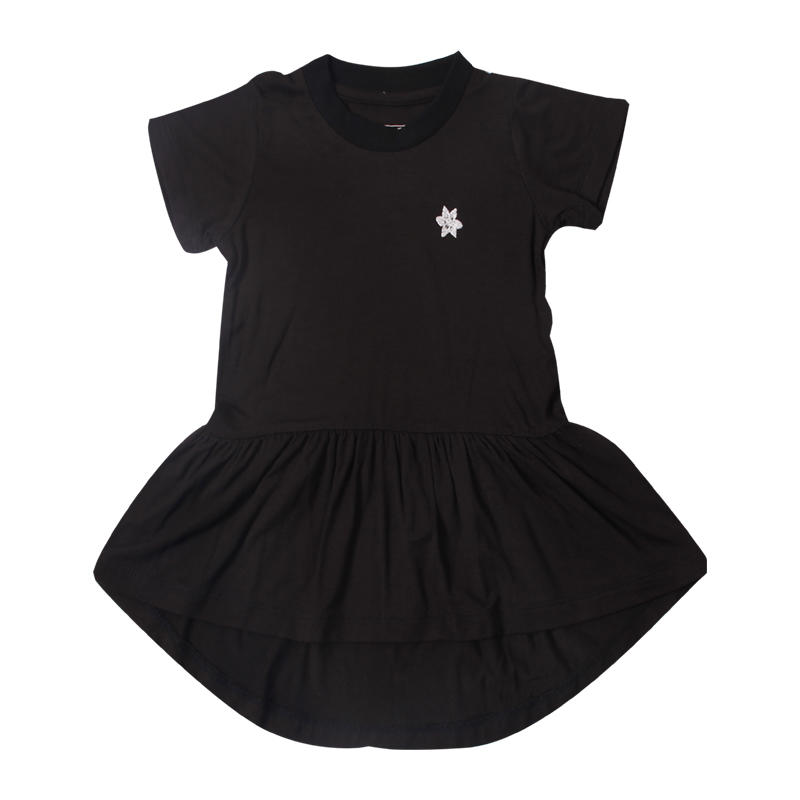 baby dress with round neck for baby girl