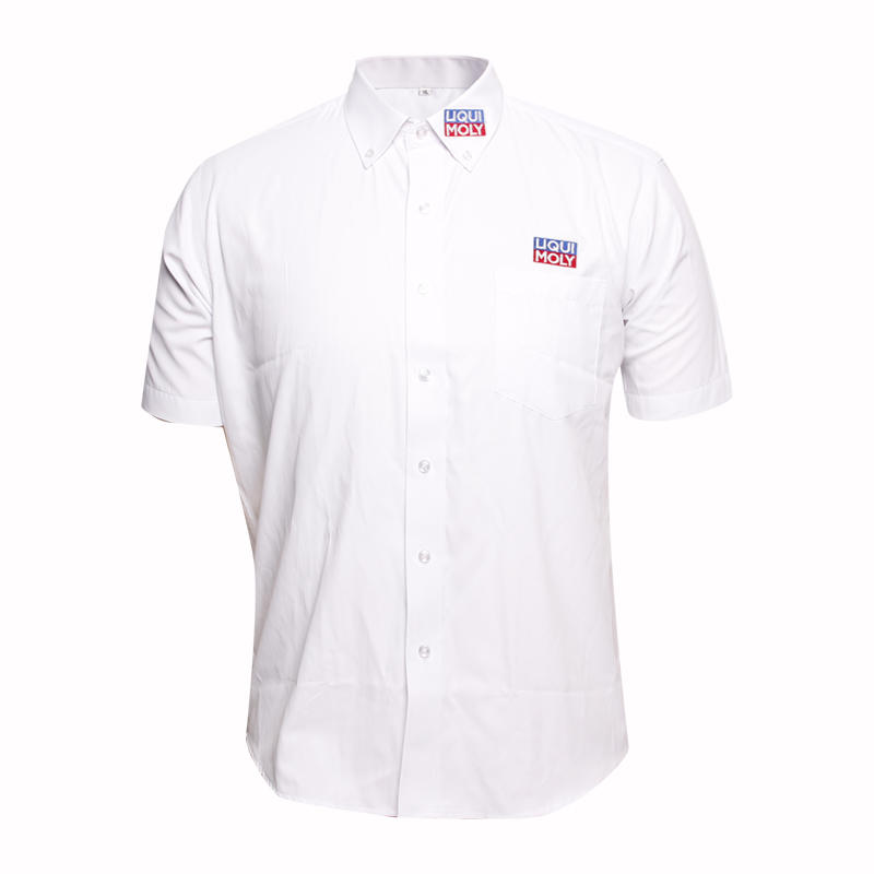 New Design Short Sleeve Men Blouse for Office Wear