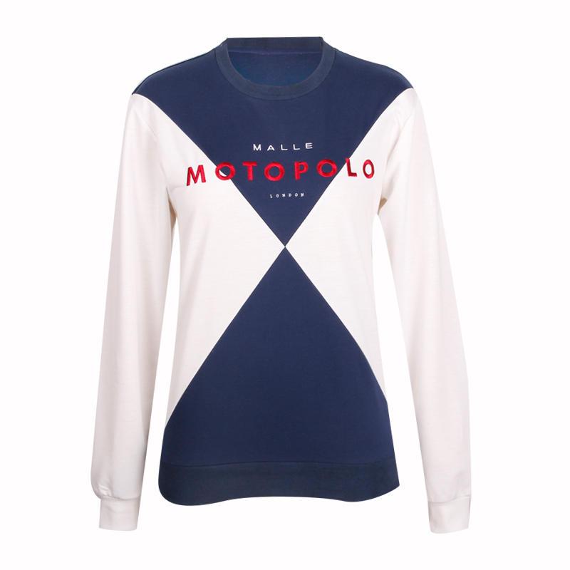 women sweatshirt cut sew embroidery custom