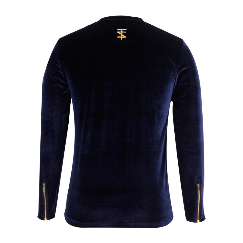 Velvet pullover sweatshirt high quality