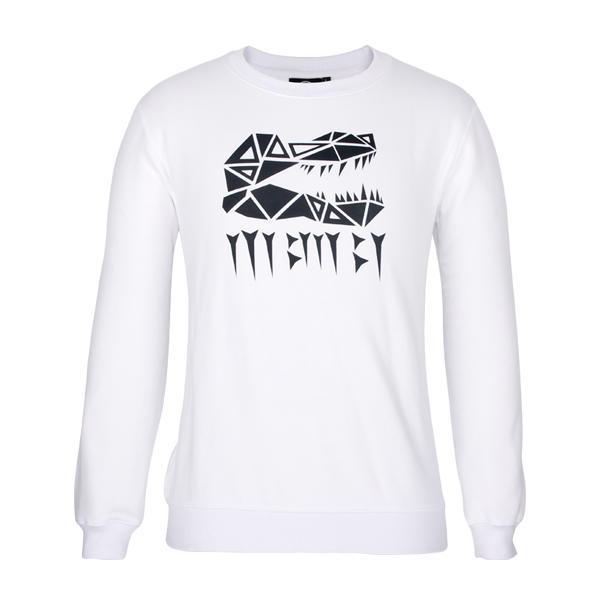 white sweatshirt crewneck Custom logo pullover