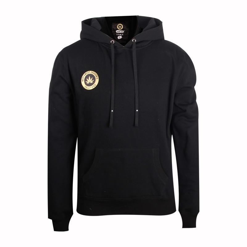 pullover hoodie Thickened black printing