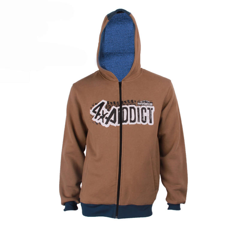 zip hoodie printing logo in china factory