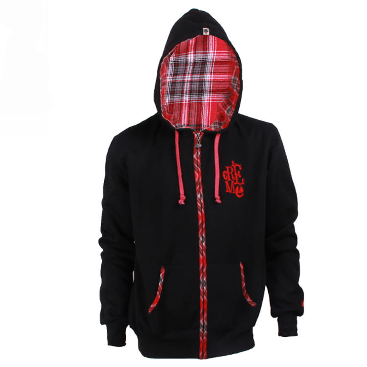 black zip up hoodie brand custom