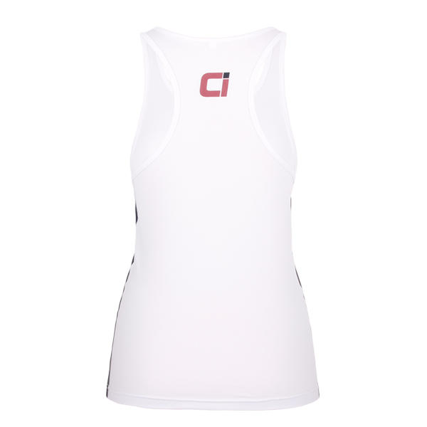 white tank top womens club 100 polyester