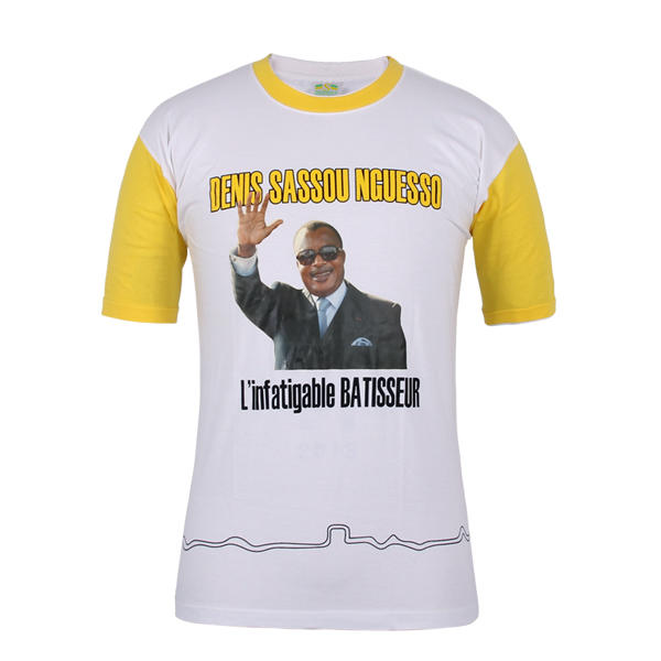 campaign t shirt design Congo-Denis Sassou Nguesso in china