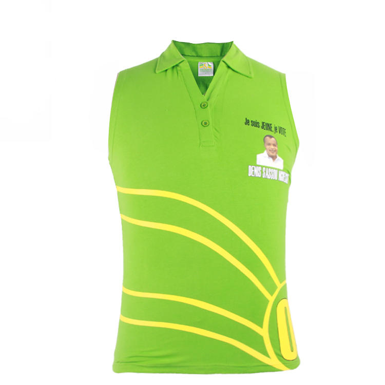 presidential policy polo sleeveless printing