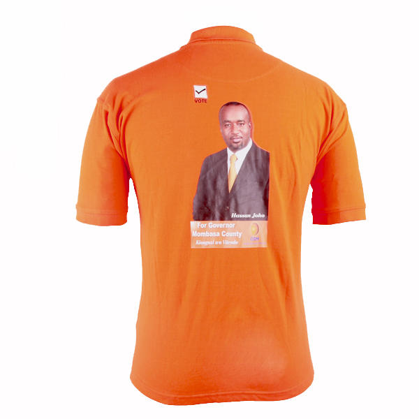 campaign polo shirt election Hassan Joho's image