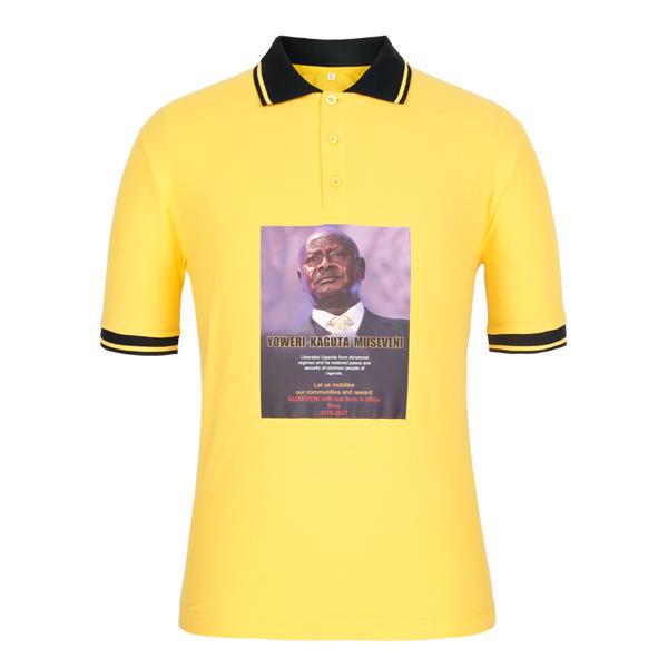 election results t shirt with Yoweri Kaguta Museven