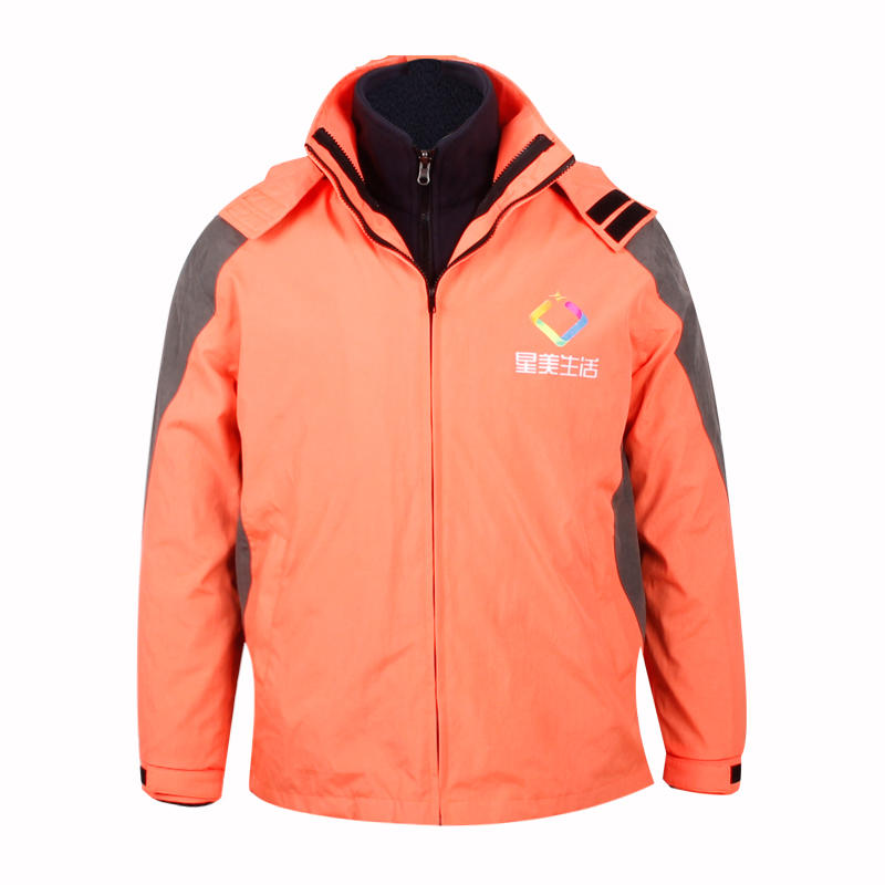 waterproof winter jacket polyester custom