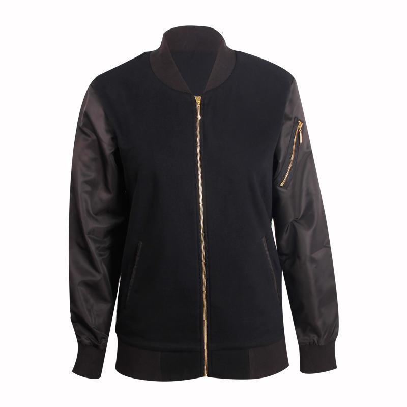 black jacket men full zipper design