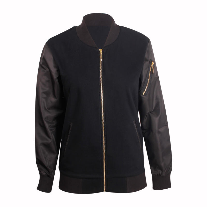 black jacket men full zipper design