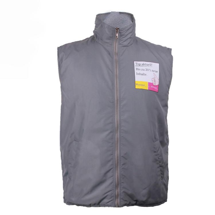 sleeveless jacket printing logo custom