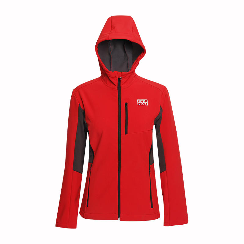 red windbreaker soft shell printing logo