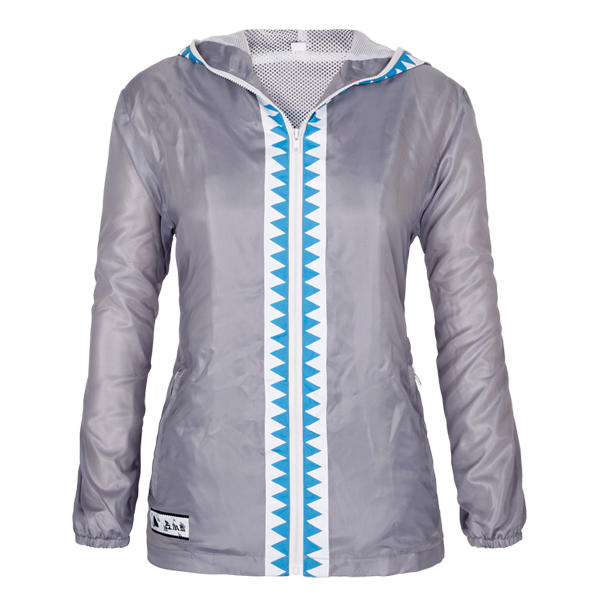 windcheater jacket ladies hooded full zipper