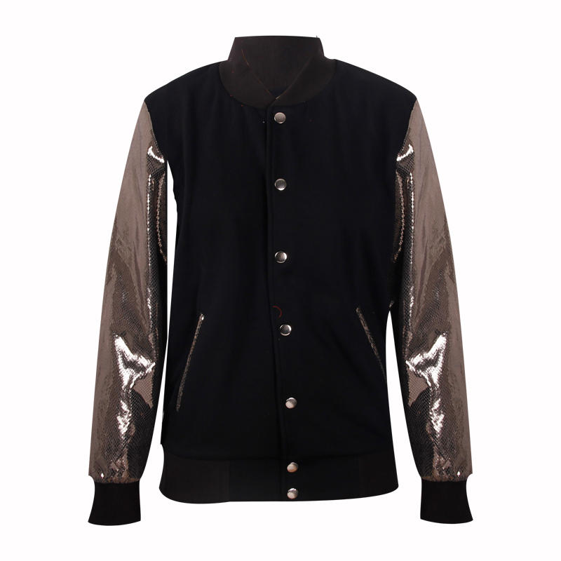 girls winter jacket button custom