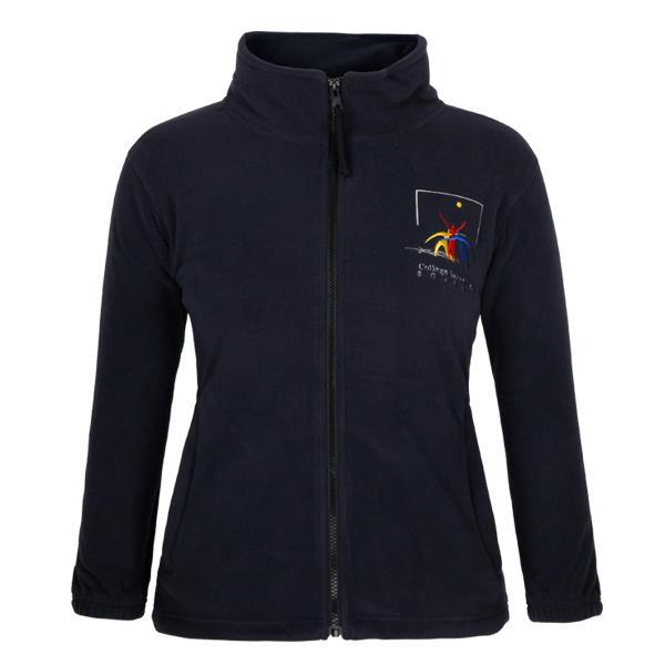 black jacket womens fleece full zipper up