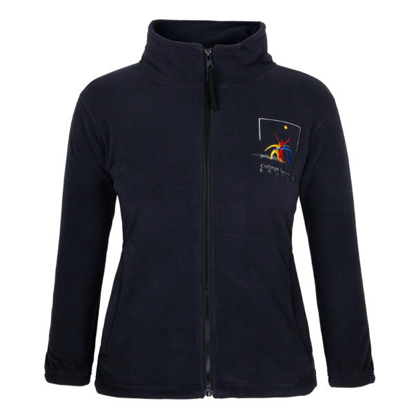 black jacket womens fleece full zipper up