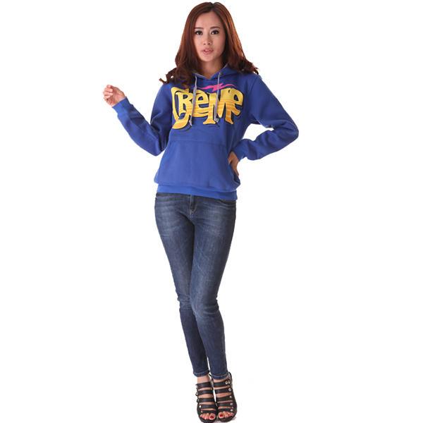 ladies casual hoodies printing logo in front