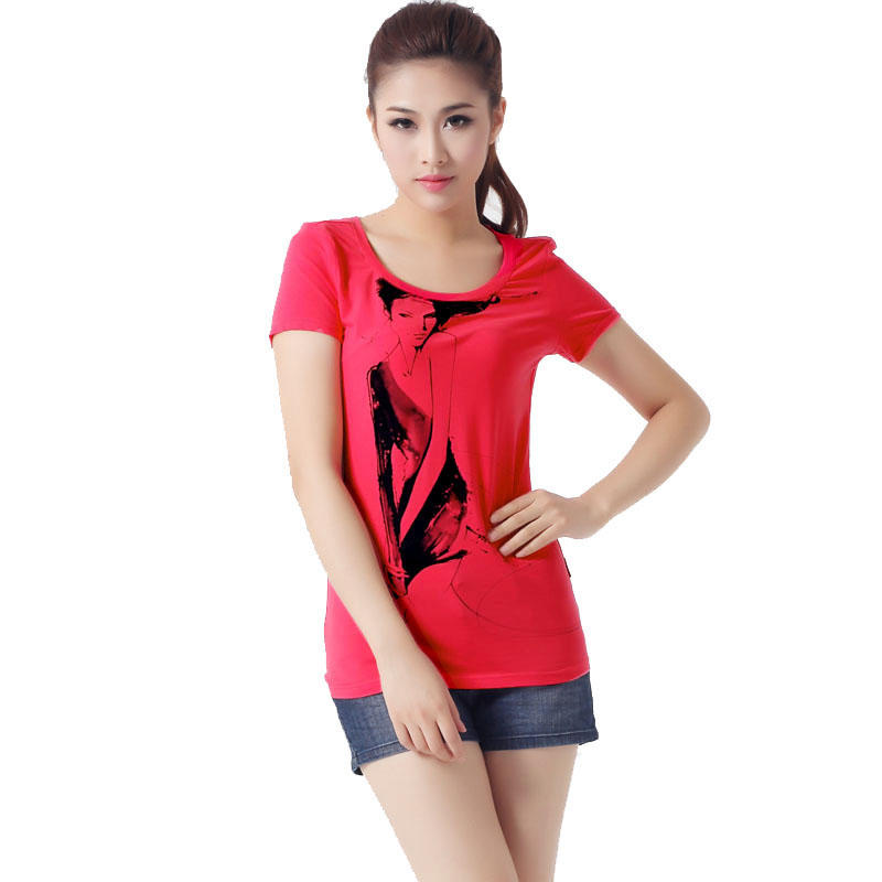 fitted t shirts fashion ladies in china