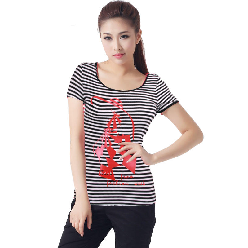 branded t shirts Stripe for ladies