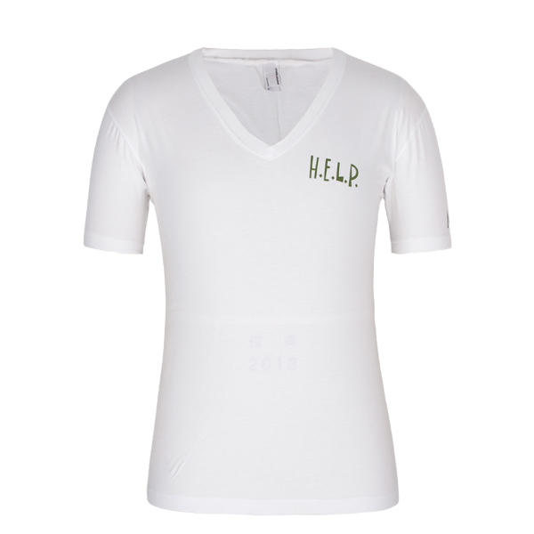 Men's T Shirt v neck Combed Cotton 180gsm Screen Printing Logo