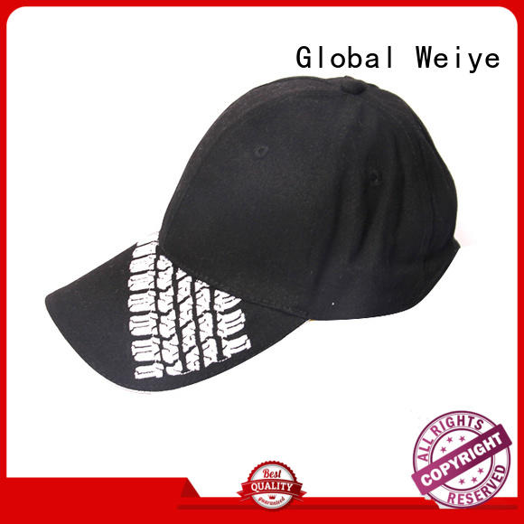 Global Weiye promotional trendy baseball caps designed for sports