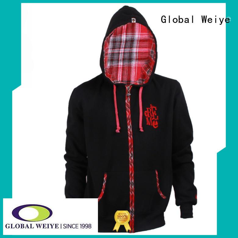hot sale cool zip up hoodies oem for men Global Weiye
