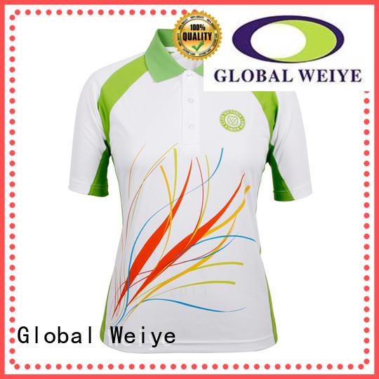 ladies polo t shirts fashion pinting 100% polyester