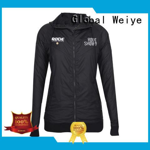 Global Weiye black jacket women fleece wholesale