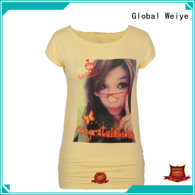 Global Weiye colorful tees womens custom for ladies