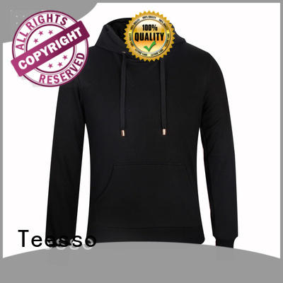 Teesso plain hoodie fashion design your own logo for men