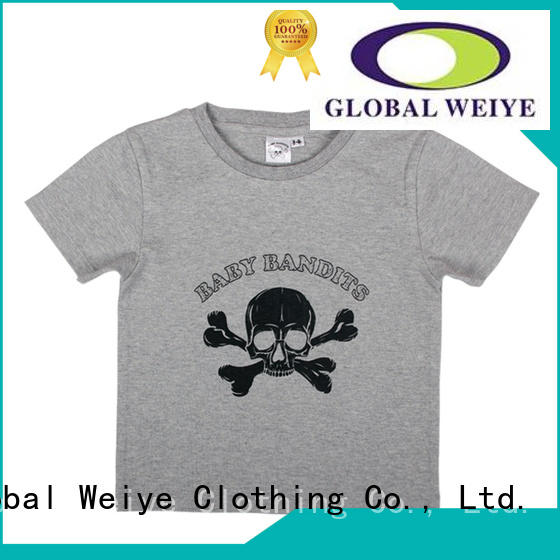 Global Weiye wear cute t shirts for kids contrast for kids