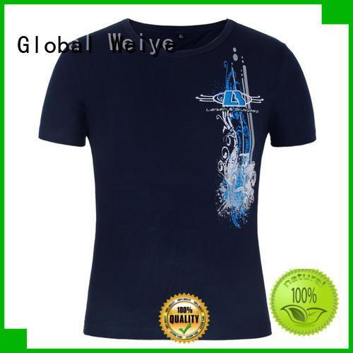 Global Weiye template print logo on shirt on promotional for children