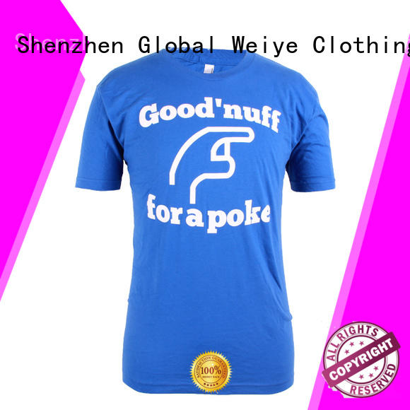Global Weiye embroidery men's t shirts design wholesalers