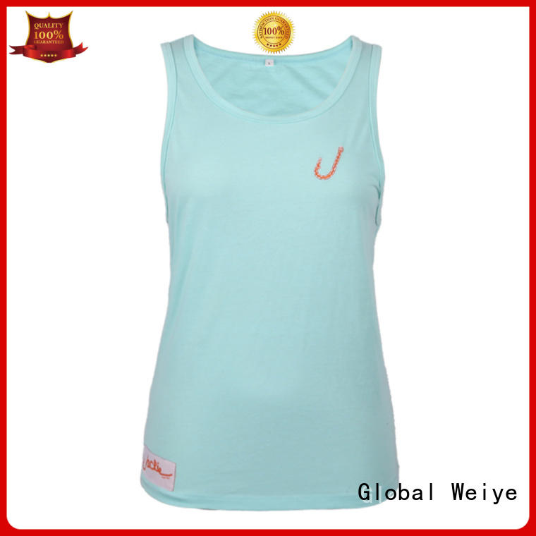 Global Weiye low cut womens sleeveless tanks for advertising