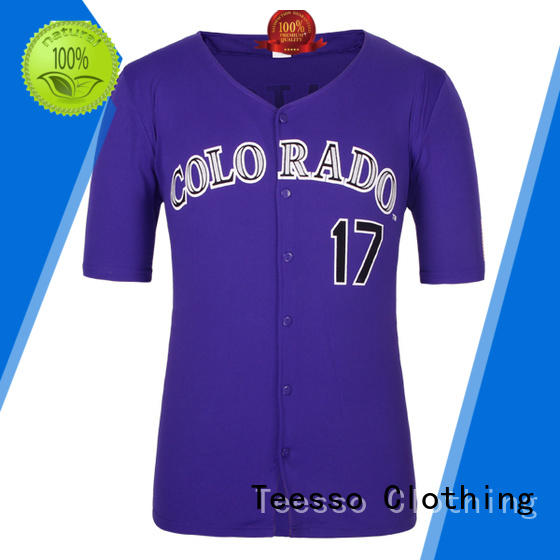 Teesso top authentic baseball jerseys company for sport