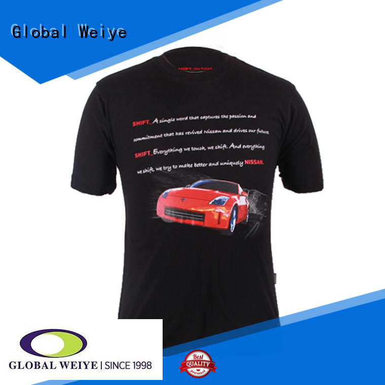 Global Weiye high quality designer printed t shirts on promotional for women