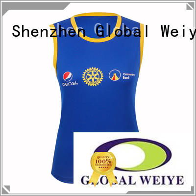Global Weiye v neck ladies cotton tank tops stringer wholesale