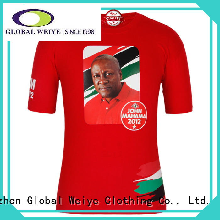 Global Weiye t shirt campaign congodenis for activities